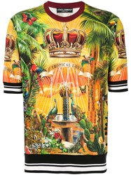Dolce And Gabbana Tropical King Print Pullover Multicolour