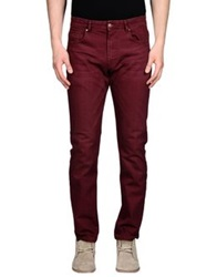 Individual Denim Pants Maroon