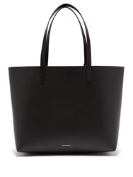 Mansur Gavriel Red Lined Large Leather Tote Bag Black Red
