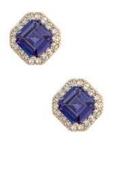 Judith Jack Sterling Silver Bold Bijoux Cz Stud Earrings Metallic