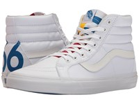 Vans Sk8 Hi Reissue 1966 True White Blue Red Skate Shoes
