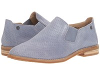 Hush Puppies Analise Clever Powder Blue Suede Perf Women's Slip On Dress Shoes