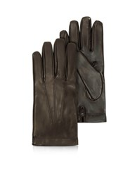 Moreschi Siberia Dark Brown Leather Men's Gloves W Cashmere Lining