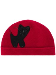 Le Chapeau Cat Embellished Hat Red