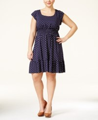 American Rag Plus Size Dot Print Flare Dress Only At Macy's
