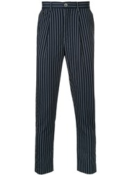 Education From Youngmachines Pinstripe Tailored Trousers Nylon Polyurethane Tactel Blue