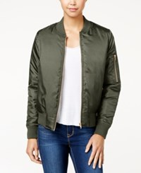 Say What Juniors' Bomber Jacket Olive