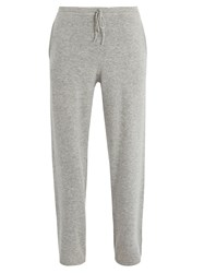 Allude Drawstring Waist Cashmere Track Pants Grey