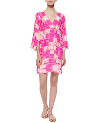Alice And Trixie 3 4 Sleeve Maze Print Dress