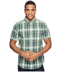 Royal Robbins Mid Coast Seersucker Plaid Short Sleeve Garden Men's Short Sleeve Button Up Green
