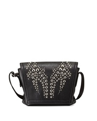 Alexander Wang Runway Studded Flap Messenger Bag Black