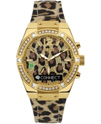 Guess Women's Connect Animal Print Leather Strap Smart Watch 41Mm C0002m6
