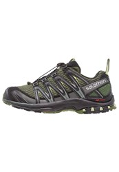Salomon Xa Pro 3D Trail Running Shoes Chive Black Beluga Oliv