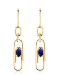 Aurelie Bidermann Angelica Lapis Paper Clip Earrings
