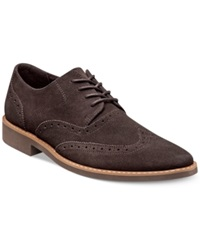 Stacy Adams Sloan Wing Tip Oxfords Men's Shoes Brown Suede
