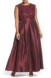 Chetta B Plus Size Women's Sequin Lace And Taffeta Gown