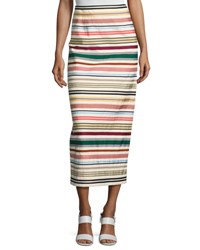 Rosie Assoulin Ribbon Striped Pencil Skirt Multi Multi Pattern
