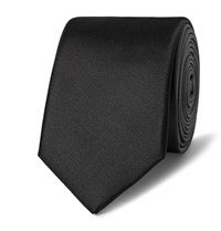 Lanvin 5.5Cm Degrade Silk Satin Tie Charcoal