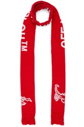 Off White Scorpion Big Scarf In Red