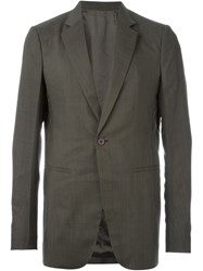 Rick Owens One Button Blazer Grey
