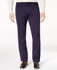 Tasso Elba Men's Classic Fit Stretch Pants Created For Macy's Navy Blue
