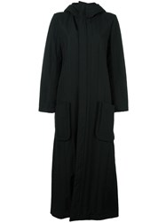Y 3 Long Hooded Coat Black