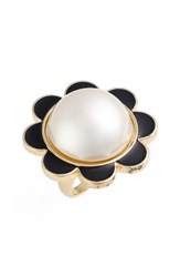 Kate Spade Women's New York Taking Shape Faux Pearl Ring