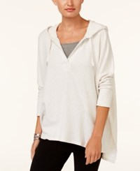 Styleandco. Style Co Oversized Dolman Sleeve Hoodie Created For Macy's White Heather