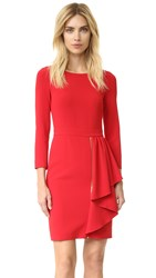 Boutique Moschino Long Sleeve Dress Red