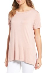 Amour Vert Women's Paola High Low Tee Soft Pink