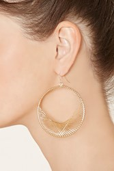 Forever 21 Wire Wrapped Hoop Earrings