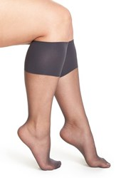 Plus Size Women's Berkshire Sheer Knee Highs Black Off Black