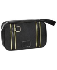 Dopp Case Racing Stripe Zip Travel Case Black