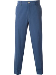 Gucci Vintage Wool Trousers Blue