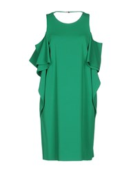 Space Style Concept Short Dresses Green