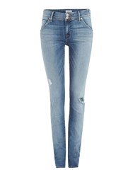 Hudson Jeans Colin Midrise Distressed In Ambitions 2 Denim Light Wash