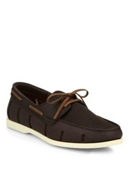 Swims Mesh Boat Loafers Brown