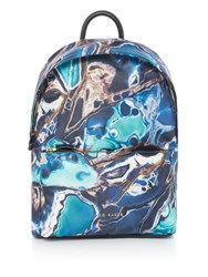 Ted Baker Blue Lagoon Print Sports Backpack Blue