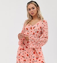 Lily And Lionel Exclusive Micro Mini Dress In Floral Print Pink