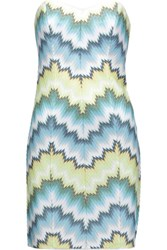 Missoni Strapless Crochet Knit Mini Dress Sky Blue