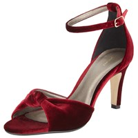 John Lewis Driver Knot Tie Sandals Red
