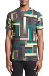 Versace Men's Collection Allover Frame Print T Shirt Mint