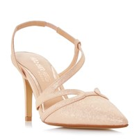 Head Over Heels Chloe Assymetric Pointed Court Shoes Metallic