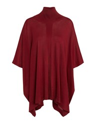 Crea Concept Roll Neck Poncho Bordeaux