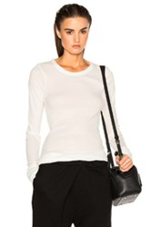 Ann Demeulemeester Long Sleeve Tee In White