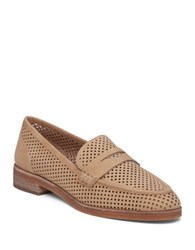 Vince Camuto Kanta Perforated Leather Moccasins Light Brown