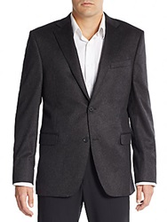 Cashmere Saks Fifth Avenue Slim Fit Cashmere Blazer Charcoal