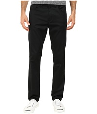 Perry Ellis Slim Fit Solid Sateen 5 Pocket Pants Black Men's Casual Pants