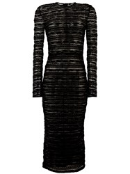Dolce And Gabbana Sheer Long Sleeved Dress Black