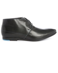 Paul And Joe Prayer Black Leather Derbies
